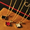 Simple Fashion Lucky Leaves / Heart Shape Resin Pendant Necklace