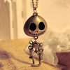 Vintage Flexible Robot Skeleton Head Personalized Chain Necklace