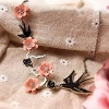 Vintage Swallow Flower Elegant Style Ladies' Choker Pendant Necklace