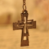 Simple Vintage Three Cross Pendant Chain Necklace