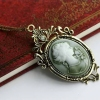 European Fashion Carving Elegant Lady's Photo Pendant Chain Necklace