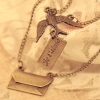 Vintage Dove Letters Pendant Chain Necklace
