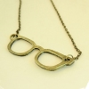 Korea Style Vintage Simple Glasses Shape Pendant Necklace