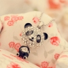 Fashion Cute Long Silver Panda Rhinestone Pendat Necklace
