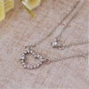 Korea Style Exquisite Double-Layer Heart Rhinestone Pendant Necklace