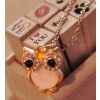 European Style Vintage Lovely Owl Rhinestone Pendant Necklace