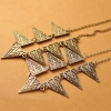 European Punk Style Vintage Triangle Bib Necklace