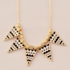 Black and white Triangle A ll-match Bib Necklace