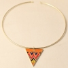 Punk Golden Triangle Gold Plated Alloy Choker Necklace