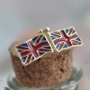 Vintage Jewelry British Flag Personalized stud earrings