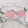 Elegant Jewelry Heart Shape Chic Pink Stud Earrings
