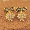 Chic Jewelry Bling Rhainstone Owl Shape Ladies' Stud Earrings