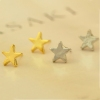 Fashion Cute Golden/Silver Star Stud Earring