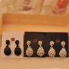 Fashion Simple Drop Shape Rhinestone Drop Earring