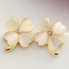 Fashion Fresh clover Opal Stud Earrings