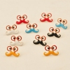 Lovely Effendi Glasses And Beard Stud Earrings