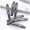 Simple Black Stainless Steel Hair Clips(Six Pairs)