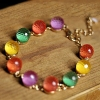 Modern Fashion Colorful Crystal Beaded Bracelet