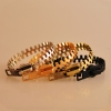 Punk Style Vintage Zipper Shape Bangle Bracelet