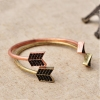 Vintage Bronze Arrow Cuff Bracelet For Ladies