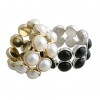 Elegant Double-layer Beads Embedded Bracelet