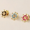 Fashion New Pop Beard Anchor Rhinestone Flower Brooch