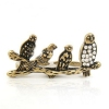 Vintage Rhinestone Four Birds Cocktail Ring