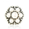 Vintage Pearl Big Flower Cocktail Ring