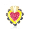 Fun Fashion Colorful Heart Cocktail Ring