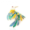 Luxury Colorful Bird Unique Animal Ring