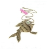 Cute Golden Fish Vintage Chain Necklace