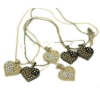 Classic Rhinestone Heart Choker Necklace