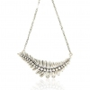 Vintage Silver Leaf Chain Necklace