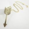 Fashion Golden Arrow Chain Necklace