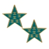 Fashion Blue Star Shape Stud Earrings