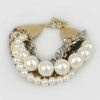 Personalized Ladies' Unique Bead Bracelets with Pearl
