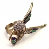 Pave Rhinestone Muticolor Bird Animal Ring