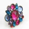 Vintage Multicolor Rhinestone Cocktail Ring