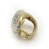 Fashion Swirling Pave Rhinestone Bling Wide Band Ring