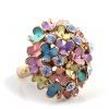 Exquisite Colorful Flower Rhinestone Ring