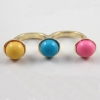 Fashion Multicolor Rhinestone Double Ring