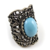 Vintage Golden Hollow Out Rhinestone Antique Ring
