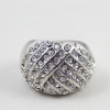 Fashion Personalized Silver Full Rhinestone Ring