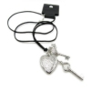 Simple Key Heart Leather Chain Necklace
