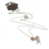 Simple Birds Chic Silver Pendant Necklace