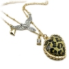 Personalized Leopard Pendant Bird Bib Necklace