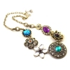 National Luxury Rhineston Flower Chain Necklace
