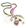 Sexy Leopard Heart Pendant Long Chain Necklace