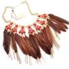 National Feather Golden Choker Necklace