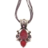 Vintage Red Multi-layer Pendant Necklaces